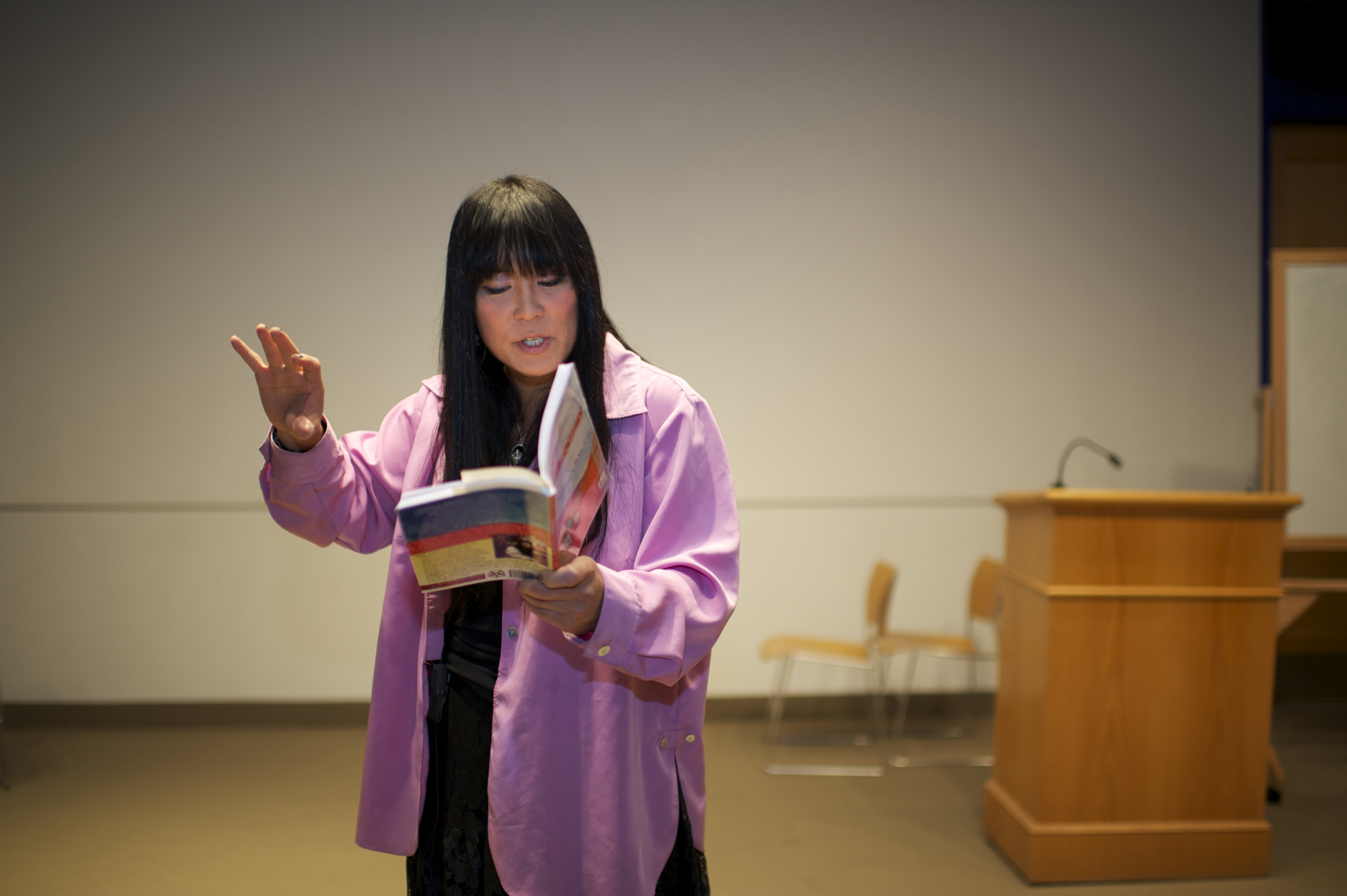 Author Ryka Aoki reading her work